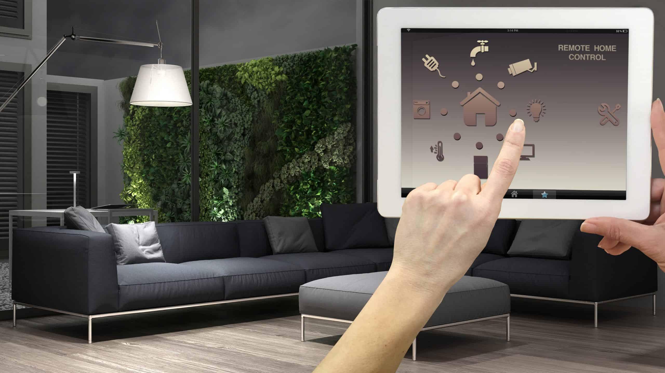 Smart remote home control display